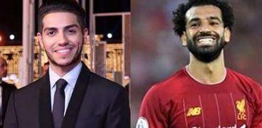 محمد صلاح لاعب نادي ليفربول و مينا مسعود الممثل  الكندي من أصول مصرية
