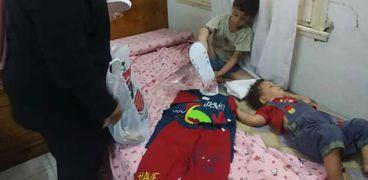 """""""أطفال بلا مأوى"""" ينقذ 4 أشقاء في بني سويف وينقلهم لمركز استضافة"""