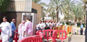 جانب من المشاركة فى الاستفتاء فى السعودية