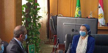 وزيرة البيئة ومحافظ الإسماعيلية