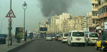 حريق في أحدي كافتريات الإسكندرية