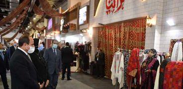 الرئيس السيسى بمعرض تراثتا