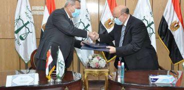 اثناء توقيع البروتوكول بين بنك مصر ومجلس الدولة