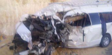 بالأسماء.. إصابة ١١ شخصا في تصادم بصحراوي سوهاج