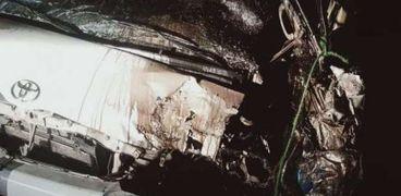 السيارة في الحادث