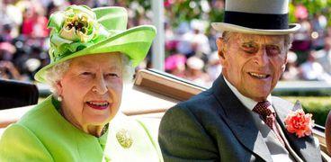 الأمير الراحل فيليب والملكة إليزابيث