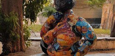 أحد اعمال طلبة إعدادي كلية الفنون الجميلة جامعة حلوان