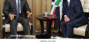 الرئيس عبدالفتاح السيسي والعاهل الأردني في لقاء سابق بموسكو