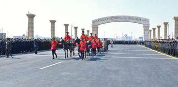 صورة من الجنازة العسكرية للرئيس الأسبق محمد حسني مبارك