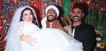 أحمد سعد وسمية الخشاب ومحمد رمضان في موسى