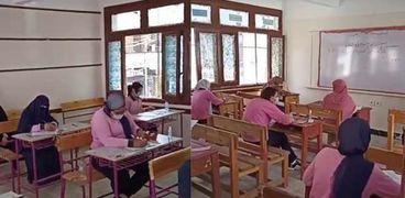 طلاب يؤدون الامتحانات- صورة أرشيفية
