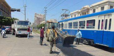 """""""النقل العام"""" تطور مزلقانات الترام بسيدي جابر وبولكلي بالإسكندرية"""