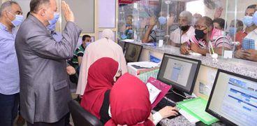خلال عملية تلقى طلبات التصالح في مخالفات البناء