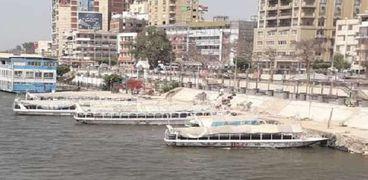 المراكب النيلية بكورنيش ببنها