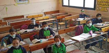 تباعد اجتماعي بين الطلاب في الفصول المدرسية