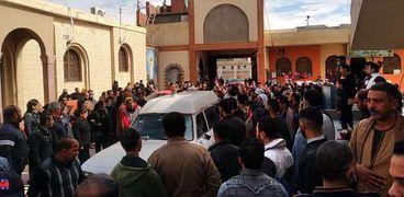 جنازة سائق التاكسي المجني عليه في الإسماعيلية