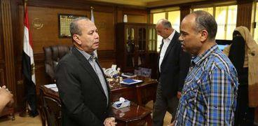 محافظ كفر الشيخ خلال لقاءه بوكيل وزارة التضامن