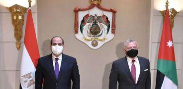 الرئيس السيسي والعاهل الأردني