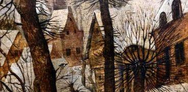 منظر طبيعي منلوحات عصر النهضة بمتحف الفنون الجميلة بالإسكندرية