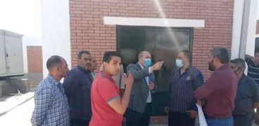 نائب محافظ الجيزة يتابع نسب تنفيذ مشروع الصرف الصحي بالحومديه