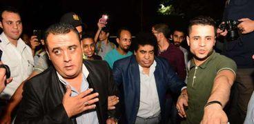 أحمد عدوية في عزاء جميل راتب