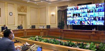 الدكتور مصطفى مدبولي، رئيس مجلس الوزراء، خلال ترؤوسه اجتماع مجلس المحافظين