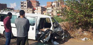 إصابة 6 أشخاص في انقلاب ميكروباص بطريق أبو كبير - فاقوس- أرشيفية
