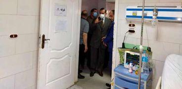 قيادات كفر الشيخ ينتقلون لمستشفى الصدر