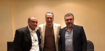 تامر أمين مع عمرو الليثي والكحكي