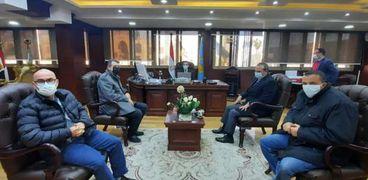 محافظ الغربية يستقبل المدير التنفيذى للمنطقة اللوجيستية بطنطا للتعاون