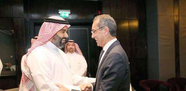 وزير الاتصالات ونظيره السعودي