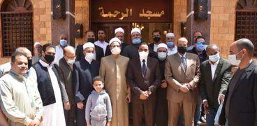 مسجد الرحمة بمطروح خلال إفتتاح المحافظ له