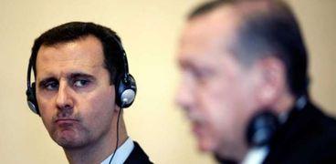 اردوغان والرئيس السوري بشار الأسد