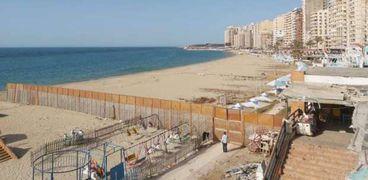 شواطئ الإسكندرية مغلقة أمام الزوار في عيد شم النسيم