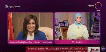 السفيرة نبيلة مكرم، وزير الهجرة
