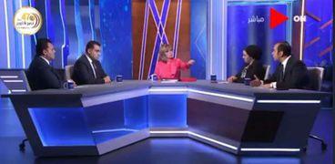 """أعضاء بتنسيقية شباب الأحزاب والسياسيين في ضيافة """"لميس الحديدي"""""""