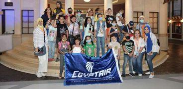 مصر للطيران تنظم جولة ترفيهية لأطفال مستشفى 57357 بـ«كيدزانيا القاهرة»