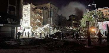 صورة من جرائم الاحتلال الإسرائيلي في غزة