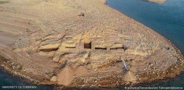 الجفاف السبب فى اكتشاف قصر ميتاني