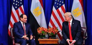 الرئيس السيسي والرئيس دونالد ترامب