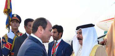 الرئيس السيسى وملك البحرين