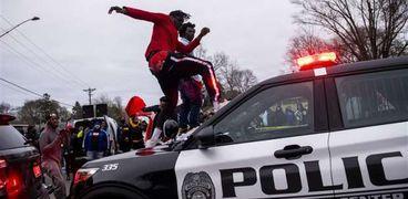 احتجاجات ضد الشرطة الأمريكية في بروكلين