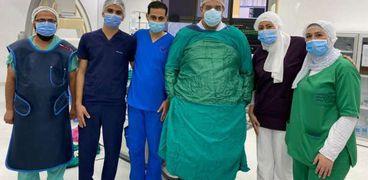نجاح أول قسطرة مخية  في بورسعيدلمريضة مسنة تحت مظلة التأمين الصحي الشامل