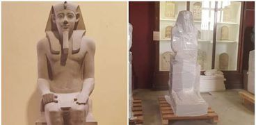 جانب من آثار المتحف المصري الكبير