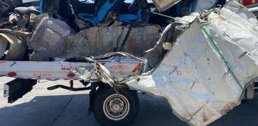 تفاصيل مصرع 5 أشخاص وإصابة 16 في حادث مروع بسوهاج (صور)