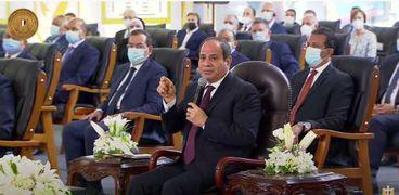 الرئيس عبد الفتاح السيسي اليوم، في افتتاحمجمع الإصدارات المؤمنة والذكية