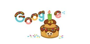 عيد ميلاد جوجل 23 Google
