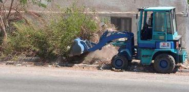 رفع 20 طن مخلفات نظافة في حملة على أحياء مدينة سفاجا