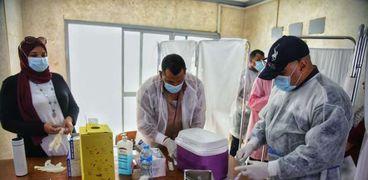 تطعيم الطلاب بجامعة حلوان - صورة أرشيفية