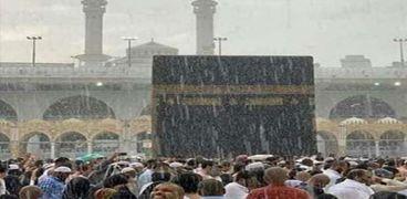 أمطار في مدينة مكة المكرمة .. صورة أرشيفية